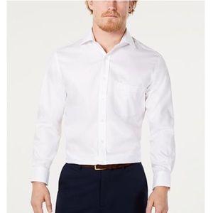 Tasso Elba | Dress Shirt In White Stripe Size 15.5